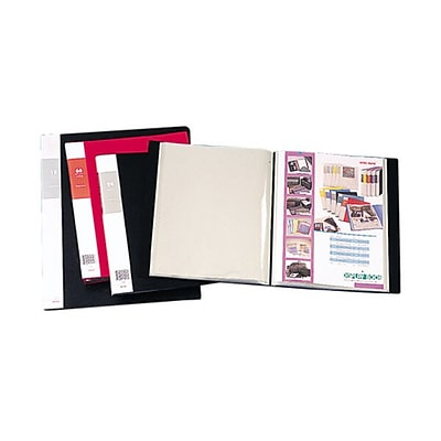 JAM Paper® Display Book, 8.5 x 11, Black, 12 Pages Per Book, Sold Individually (F12BK)