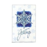 JAM Paper® Christmas Card Set, Snowflake Greetings Modern, 10/Pack (W99544)