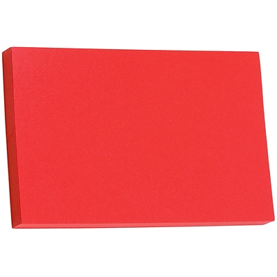 JAM Paper® Blank Note Cards, 5.75 x 9, Jupiter Red Stardream, 25/Pack (17534141)