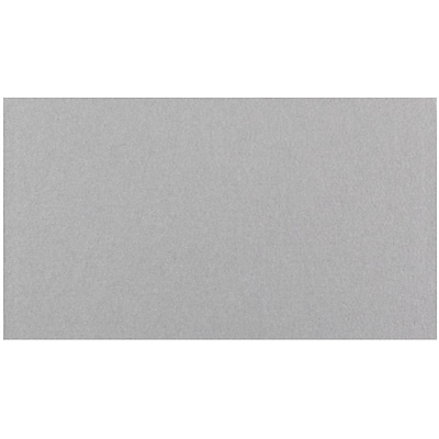 JAM Paper® Blank Note Cards, 2 x 3.5, Silver Metallic Stardream, 100/Pack (17532460)