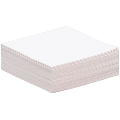 JAM Paper® Blank Note Cards, 1.75 x 1.75, White Parchment, 50/Pack (17534144)