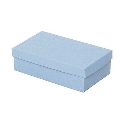 JAM Paper® Two Piece Jewelry Box Gift set, 3.5 x 6 x 1.75, Baby Blue, Sold Individually (2259220970)