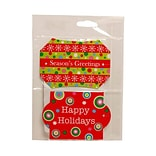 JAM Paper® Holiday Package Tags, Assorted, 4/Pack (36893)