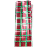 JAM Paper® Holiday Tissue Paper, Christmas Plaid w/ Silver, 3/Pack (11834072)