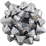 JAM Paper® Gift Bows, Small, 3.5 Diameter, Speckled Silver, 12/Pack (83629673b)