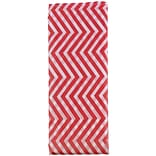 JAM Paper® Holiday Tissue Paper, Red and White Chevron, 8/Pack (11834074)