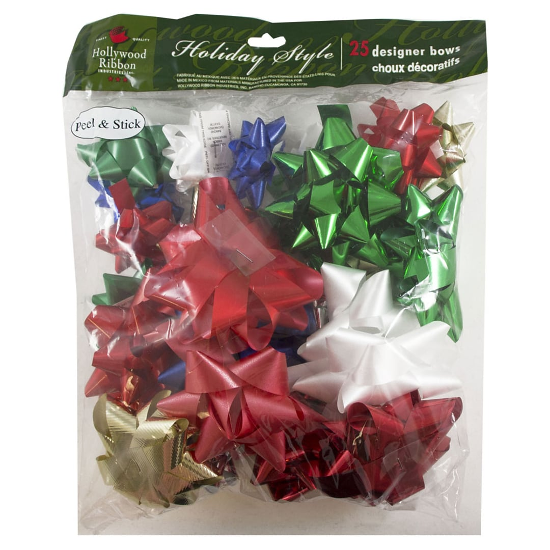 JAM Paper® Gift Bows, Assorted Gift Bow Set, 25/Pack (10630322)