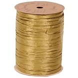 JAM Paper® Wraphia Ribbon, Gold, 100 yards, Sold Individually (1082782)