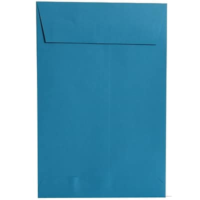 JAM Paper® 6 x 9 Open End Catalog Colored Envelopes, Blue Recycled, 25/Pack (88087a)
