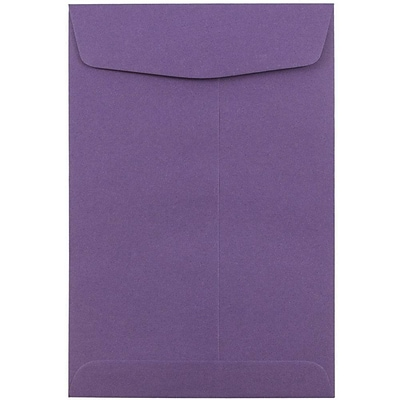 JAM Paper® 6 x 9 Open End Catalog Envelopes, Dark Purple, 50/Pack (1287033ci)