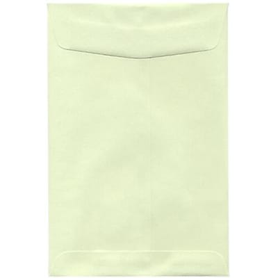 JAM Paper® 6 x 9 Open End Catalog Envelopes, Light Green, 50/Pack (31287518fi)
