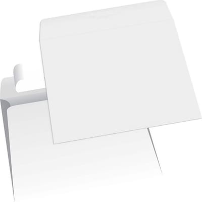 JAM Paper® Tyvek Booklet Envelopes with Peel & Seal Closure, 11.5 x 14.5, White, 500/Box (367934171)