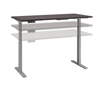 Move 60 by Bush Business Furniture 72W x 30D Adjustable Standing Desk, Storm Gray (M6S7230SGSK)