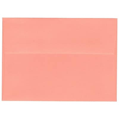 JAM Paper® A6 Invitation Envelopes, 4.75 x 6.5, Salmon Pink, Bulk 250/Box (298224035)