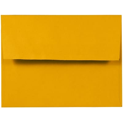 JAM Paper® A2 Invitation Envelopes, 4-3/8 x 5-3/4, Sunflower Yellow, 250/Pack (294323567)