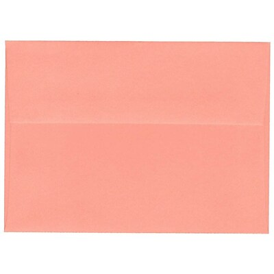 JAM Paper® A7 Invitation Envelopes, 5.25 x 7.25, Salmon Pink, 250/Pack (298224036)