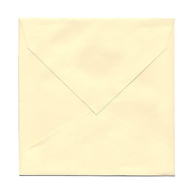 JAM Paper® 7.5 x 7.5 Square Invitation Envelopes, Ivory V-Flap, Ivory, 25/Pack (2792287)