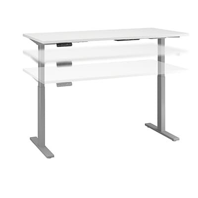 Move 60 by Bush Business Furniture 72W x 24D Height Adjustable Standing Desk, White (M6S7224WHSK)