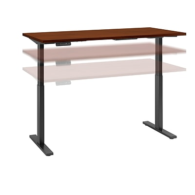Move 60 by Bush Business Furniture 72W x 30D Height Adjustable Standing Desk, Hansen Cherry (M6S7230HCBK)