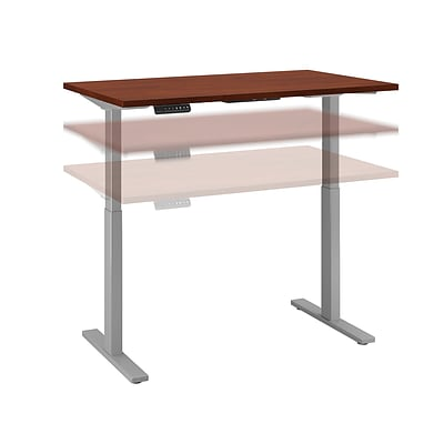 Move 60 by Bush Business Furniture 48W x 30D Height Adjustable Standing Desk, Hansen Cherry, Installed (M6S4830HCSKFA)