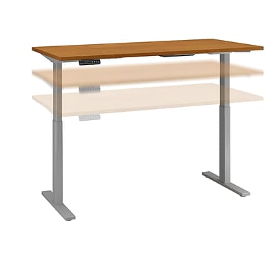 Move 60 by Bush Business Furniture 60W x 30D Height Adjustable Standing Desk, Natural Cherry, Installed (M6S6030NCSKFA)