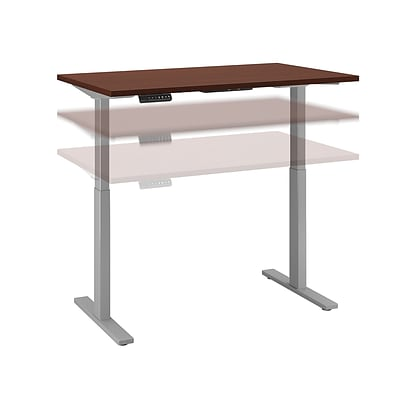 Move 60 by Bush Business Furniture 48W x 24D Height Adjustable Standing Desk, Harvest Cherry, Installed (M6S4824CSSKFA)