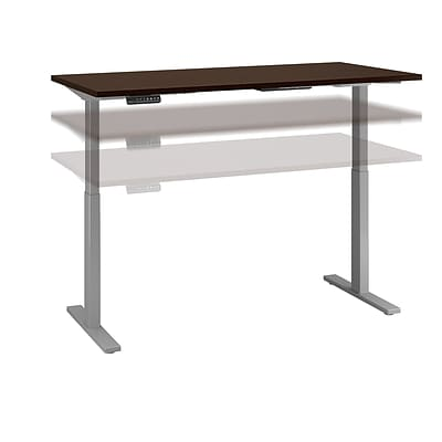 Move 60 by Bush Business Furniture 60W x 24D Height Adjustable Standing Desk, Mocha Cherry, Installed (M6S6024MRSKFA)
