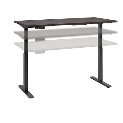Move 60 by Bush Business Furniture 60W x 30D Height Adjustable Standing Desk, Storm Gray, Installed (M6S6030SGBKFA)