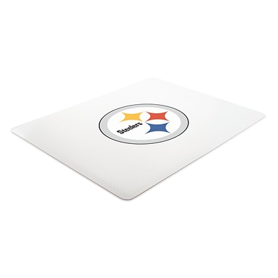 Deflecto Pittsburgh Steelers EconoMat® 45 x 53 Rectangle Low Pile Chair Mat (NFL11242PITCOM)