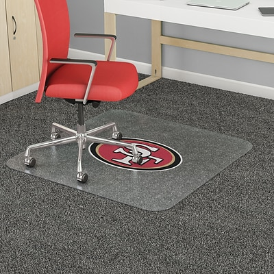 Deflecto San Francisco 49ers EconoMat® 45 x 53 Rectangle Low Pile Chair Mat (NFL11242SFCOM)