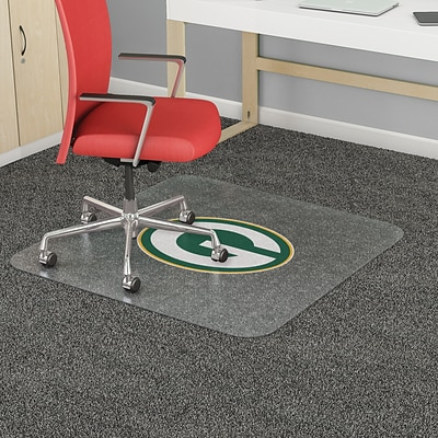 Deflecto Green Bay Packers EconoMat® 46 x 60 Rectangle Low Pile Chair Mat (NFL11442FGBCOM)