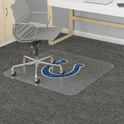 Deflecto Indianapolis Colts 45 x 53 Rectangle Medium Pile Chair Mat (NFL14242INDCOM)