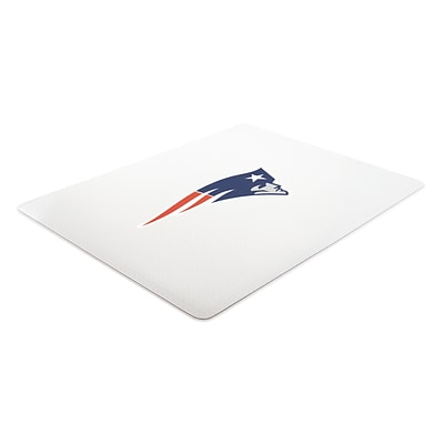 Deflecto New England Patriots SuperMat 45 x 53 Rectangle Medium Pile Chair Mat (NFL14242NECOM)