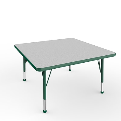 ECR4Kids Thermo-Fused Adjustable Ball 36 Square Laminate Activity Table Grey/Green (ELR-14223-GYGNGNTB)