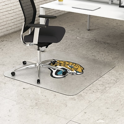 Deflecto Jacksonville Jaguars EconoMat® 45 x 53 Rectangle Hard Floor Chair Mat (NFL21242JAXCOM)