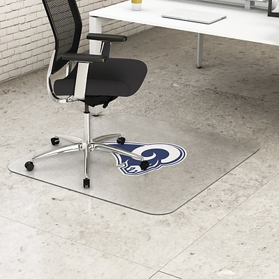 Deflecto Los Angeles Rams EconoMat® 45 x 53 Rectangle Hard Floor Chair Mat (NFL21242LARCOM)