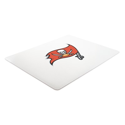 Deflecto Tampa Bay Buccaneers EconoMat® 45 x 53 Rectangle Hard Floor Chair Mat (NFL21242TBCOM)