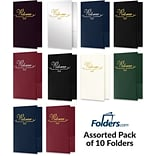 LUX Welcome Folders, Standard Two Pockets, Assorted Colors, Pack of 10 (WEL-10PACK-1)