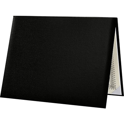 LUX Diploma Cover, Padded, Black, 2/Pack (PDCL-85X11-DB-2)