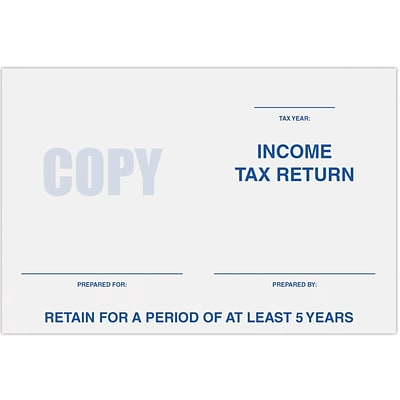 LUX 6 x 9 Tax Return Booklet Envelopes 500/Pack, 24 lb. Bright White (11874-TAX-500)