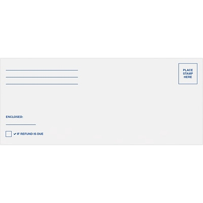 LUX # 10 Regular Federal Mailing Envelopes, 4-1/8 x 9-1/2, 250/Pack, White w/ Peel & Seel (75746-TAX-250)