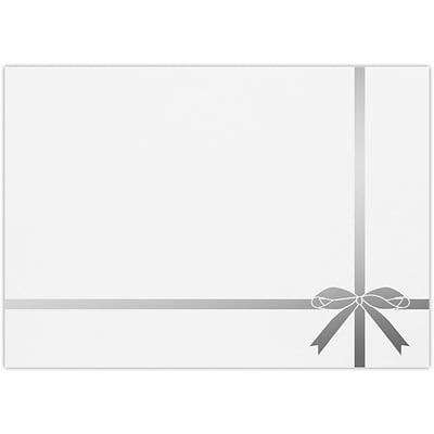 LUX A7 Foil Lined Invitation Envelopes, 5-1/4 x 7-1/4, 500/Pack, Silver Bow on White (FLWH488003SB500)