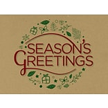 LUX #17 Mini Envelopes, 2-11/16, x 3-11/16, 250/Pack, Seasons Greetings on Grocery Bag (LEVC-GBSG-