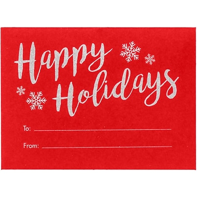 LUX #17 Mini Envelopes, 2-11/16, x 3-11/16, 500/Pack, Happy Holidays on Ruby Red (EXLEVC-18H-500)