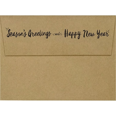 LUX A7 Invitation Envelopes, 5-1/4 x 7-1/4, 500/Pack, Seasons Greetings & Happy New Year on Grocery Bag (LUX4880GBSG500)