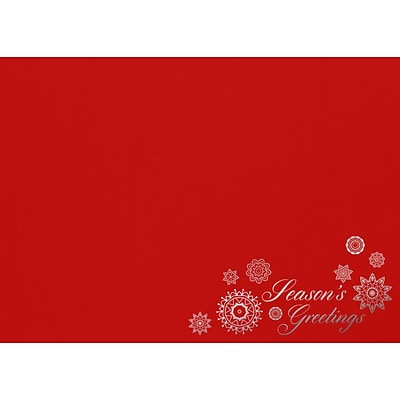 LUX A7 Contour Flap Envelopes, 5-1/4 x 7-1/4, 1000/Pack, Seasons Greetings on Ruby Red (LUX188018HH1000)