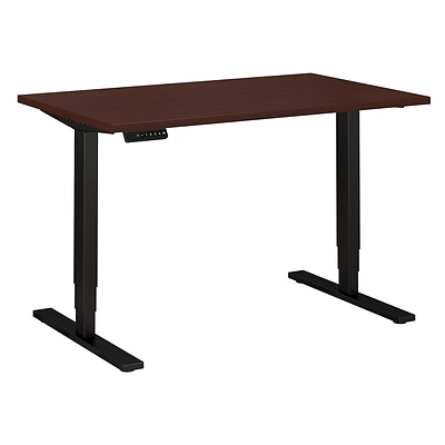 Move 80 Series by Bush Business Furniture 48W x 30D Height Adjustable Standing Desk, Harvest Cherry (HAT4830CSBK)