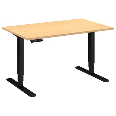 Move 80 Series by Bush Business Furniture 48W x 30D Height Adjustable Standing Desk, Natural Maple (HAT4830ACBK)