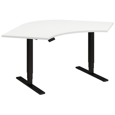 Move 80 Series By Bush Business Furniture 48 X 48 X 24 Corner Height Adjustable Standing Desk, White (hat484824whbk)