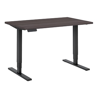 Move 80 Series by Bush Business Furniture 48W x 30D Height Adjustable Standing Desk, Storm Gray/Blac
